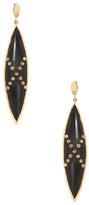 Maiyet Black Horn & 4.20 Total Ct. Diamond Drop Earrings