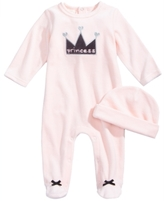 First Impressions 2-Pc. Hat & Princess Footed Coverall Set, Baby Girls (0-24 months), Created for Macy's