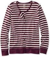 L.L. Bean L.L.Bean Pima Cotton Cardigan, Long-Sleeve Stripe