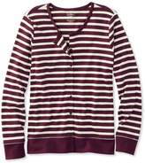 L.L. Bean Pima Cotton Cardigan, Long-Sleeve Stripe