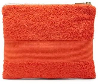 Kilometre Paris - Zipped Cotton-terry Pouch - Orange