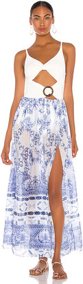 PatBO Amalfi Cut Out Beach Dress