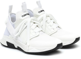 Tom Ford Leather-trimmed sneakers