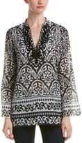 Hale Bob Embellished Silk-Blend Tunic