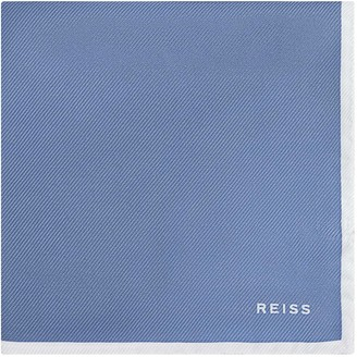 Reiss MOON SILK POCKET SQUARE Airforce Blue