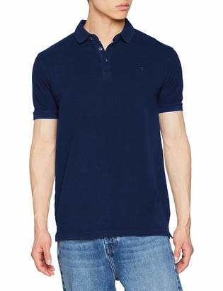 Trussardi Jeans Men's Short Sleeves Polo Shirt Piquet Pure Cotton Regular Fit