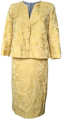 Christian Dior Yellow Cotton Skirt for Women Vintage