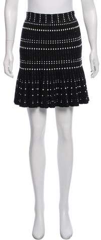 Alexander McQueen Pleated Knee-Length Skirt