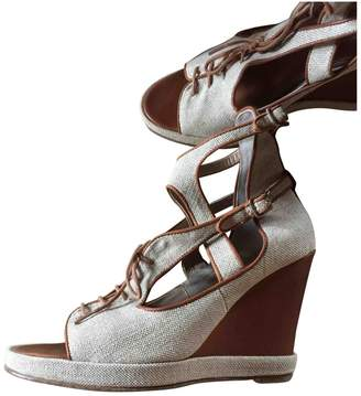Surface to Air Ecru Leather Sandals