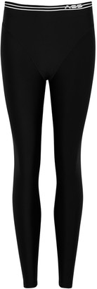 Adam Selman Sport French Cut Black Logo Leggings