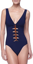 Karla Colletto V-Neck One-Piece Swimsuit