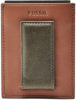 Fossil Men's Ethan Leather Rfid Money Clip Card Case