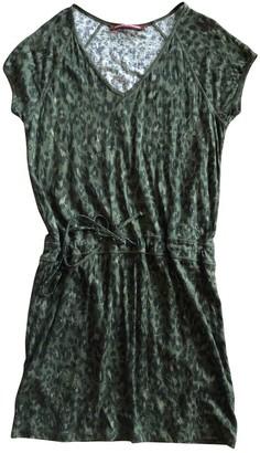Comptoir des Cotonniers Green Linen Dress for Women