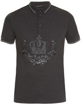 Dolce & Gabbana Crown-embroidered Polo Shirt