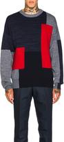 Oamc Mohair Panel Crewneck Sweater