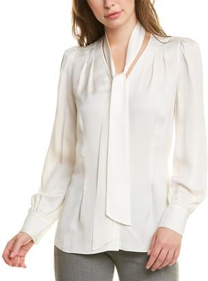 Elie Tahari Percy Silk Shirt