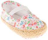 Polo Ralph Lauren White Mini Floral Bowman Booties - Infant