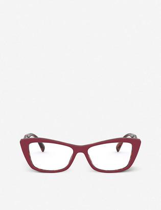 Prada PR 15XV acetate cat-eye glasses