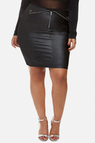 Fashion to Figure Bianca Faux Leather Moto Skirt