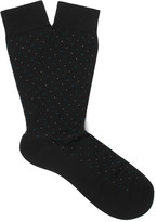 Pantherella - Regent Pin-dot Cotton-blend Socks
