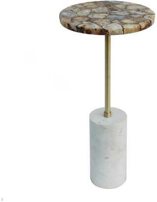 A&B Home Agate Side Table
