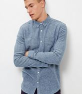 New Look Blue Twill Long Sleeve Shirt