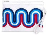 Mossimo POPTIMISM! Women's Small Wave Print Pouch - Navy