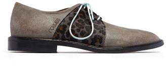 Rogue Matilda - Skittle Taupe Grey Lace Up Shoes - EU36 (UK3)