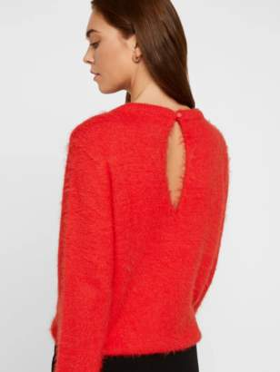 Vero Moda O-NECK FLUFFY KNITTED JUMPER - extra small   nylon   red - Red/Red