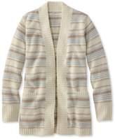 L.L. Bean Cozy Boucl Sweater, Open Cardigan Stripe