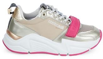 Roberto Cavalli Sport Chunky Mixed-Media Sneakers