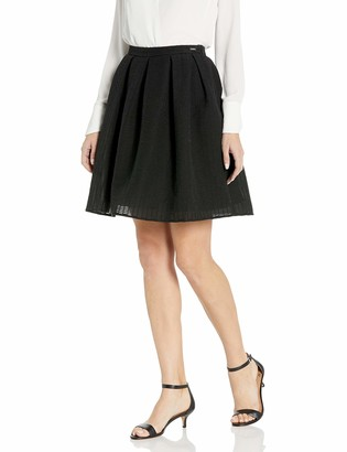 A|X Armani Exchange Women's A-line Above The Knee Woven Skirt
