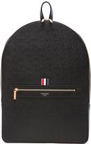 Thom Browne Pebble Grain Backpack in Black.