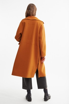 Proenza Schouler White Label Double Face Coat With Side Slits