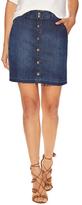 Splendid Button Front Denim Pencil Skirt