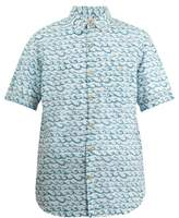 Faherty Coast wave-print cotton shirt