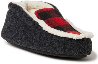Dearfoams Kids Felted Microwool and Plaid Booti e Slippers