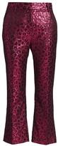 Tanya Taylor Madden Metallic Leopard Print Kick Flare Pants