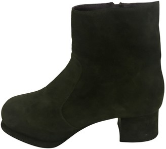 Prada Green Suede Ankle boots