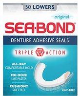 Sea Bond Denture Adhesive, Original Lowers, 30 Count