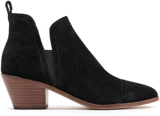 Sigerson Morrison Perforated Suede Ankle Boots