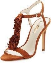 BCBGeneration Clue Fringe T-Strap Sandal, Caramel