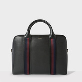 Paul Smith Men's Black Leather 'City Webbing' Large Folio