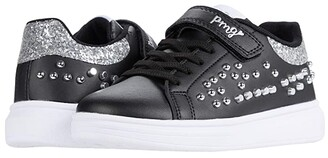 Primigi 64510 (Little Kid) (Black/Silver) Girl's Shoes