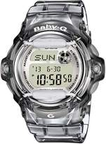 Casio Baby-G Black Collection Transparent Resin Grey Dial Women's Watch #BG169R-8