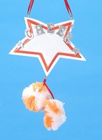 Kurt Adler Orange and White Star with Pom-Pom's Cheerleader Christmas Ornament #W3765OW