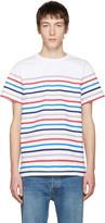 A.P.C. White Striped Regular T-shirt