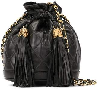 Chanel Pre-Owned 1989-1991 fringe drawstring chain shoulder bag