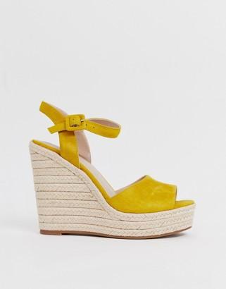 Aldo Ybelani platform heeled sandals in yellow