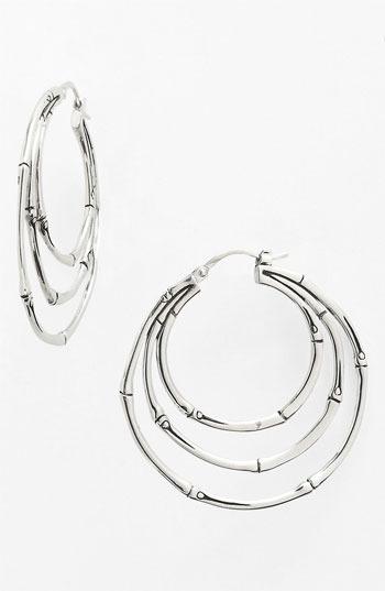 John Hardy 'Bamboo' Small Orbital Hoop Earrings